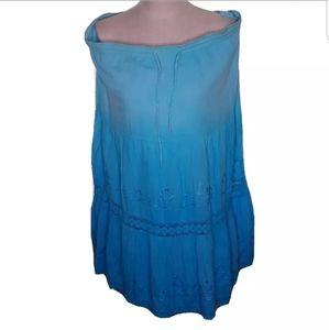 Bobbie Brooks Women skirt blue large 12-14 Tub1